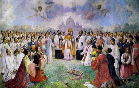 Laurent-Marie-Joseph Imbert and 78 Companions (beatification banner, 05 July 1925)
